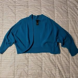 Torrid Teal Cropped Cover Up